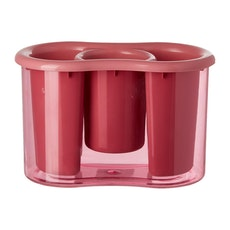 Plastic 3 Compartment Cutlery Holder - Pink