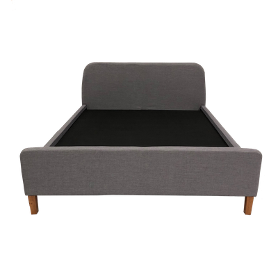 (As-is) Queen Louisa Headboard Bed - Light Grey (Fabric) - Image 2
