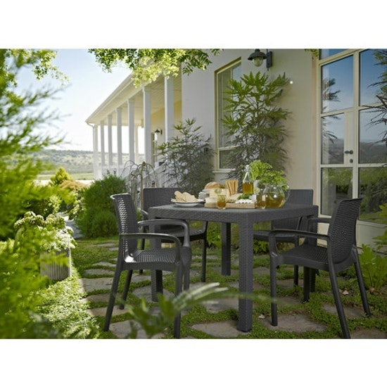 Keter - 4 Bali Chairs + 1 Quartet Table Outdoor Set