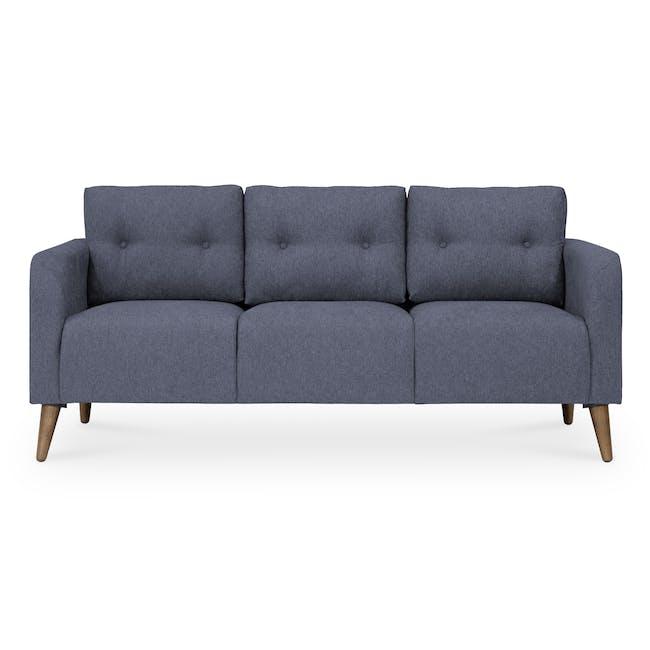 Bennett 3 Seater Sofa with Bennett Armchair - Midnight - 2
