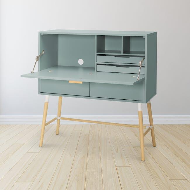 Arod Study Table - Sage Green - 1