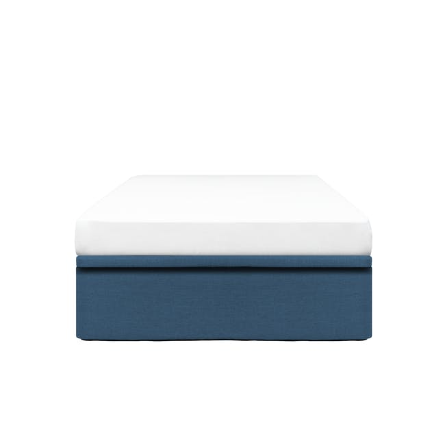 ESSENTIALS Single Storage Bed - Denim (Fabric) - 0
