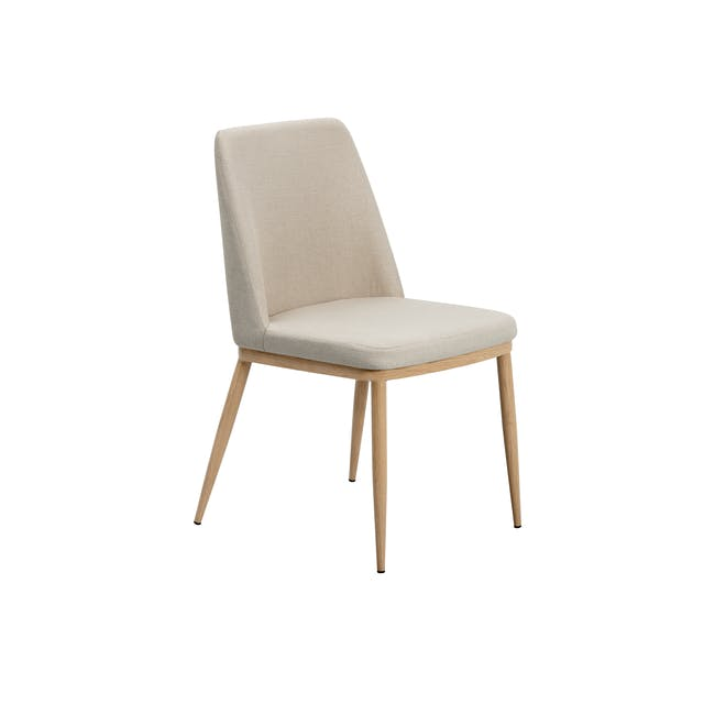 Kate Dining Chair - Oak, Beige - 0