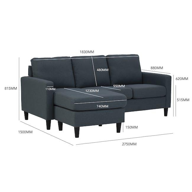 Micra L-Shaped Sofa - Seal - 5