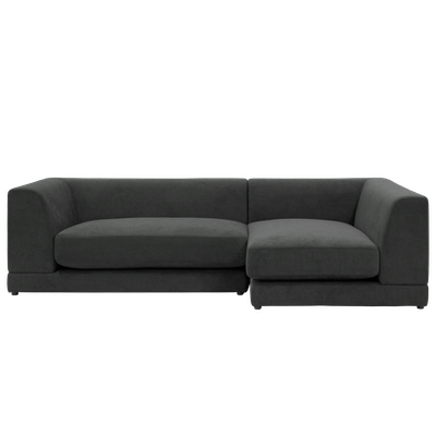 Abby L Shape Sofa - Granite - Image 1