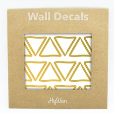 Doodle Triangle Wall Decal (Pack of 48) - Gold