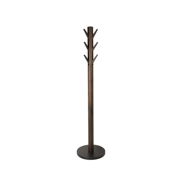 Flapper Coat Rack - Black, Walnut - 0