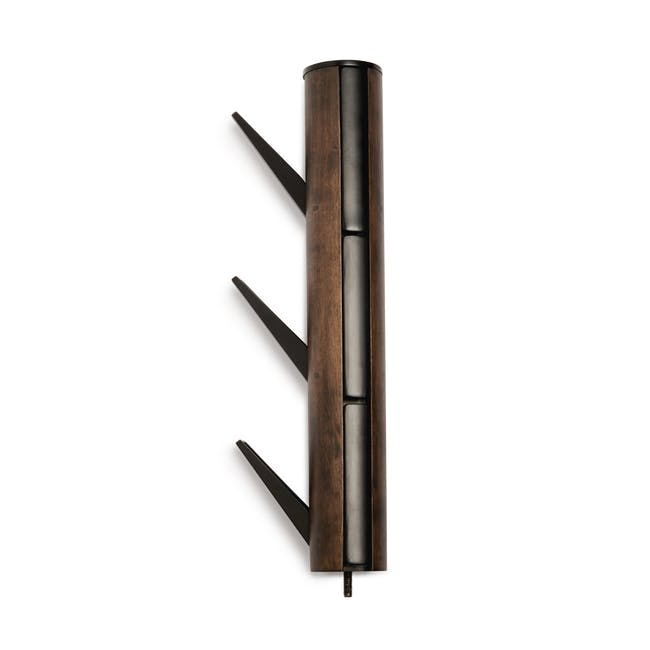 Flapper Coat Rack - Black, Walnut - 6