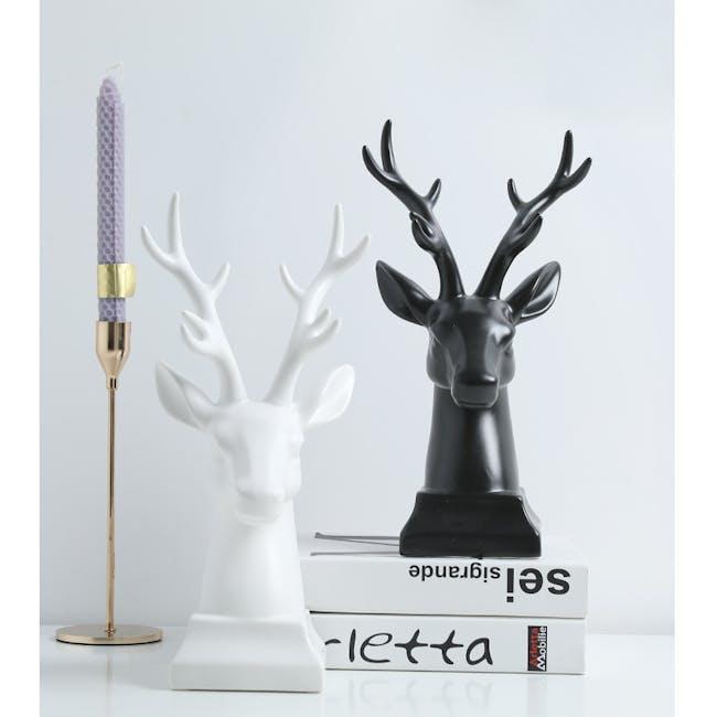 Deer Head Decor/Bookends (Set of 2) - Black - 1