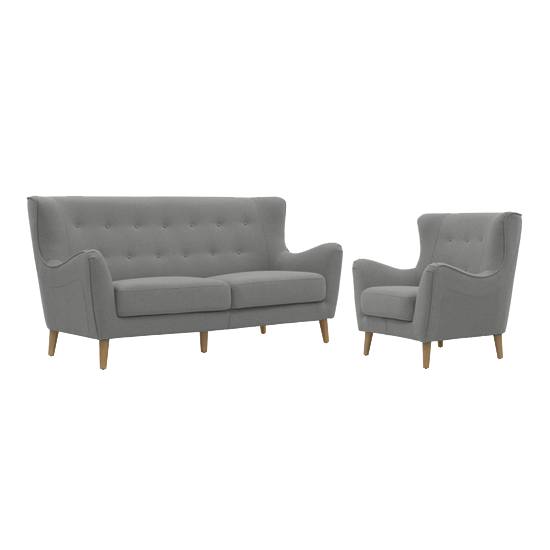 Jacob 3 Seater Sofa With Jacob Armchair Slate Hipvan Bundles
