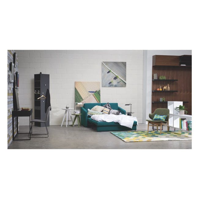 Adam 3 Seater Sofa in Pearl with Veronic in Forest Green - 7