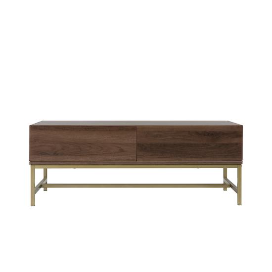 Glass and Metal - Tegan Twin Drawer Coffee Table 1.1m