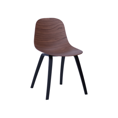Stacy Dining Chair - Walnut, Black - Image 1