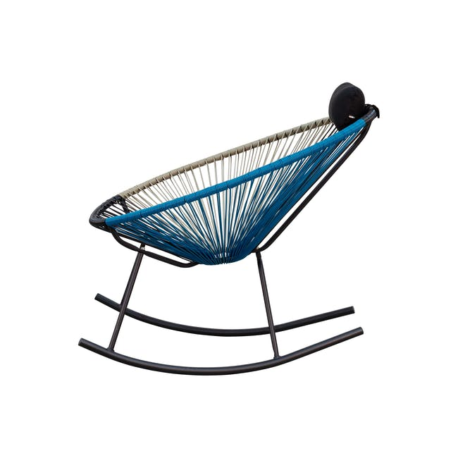 Acapulco Rocking Chair - Taupe, Black, Blue Mix - 2