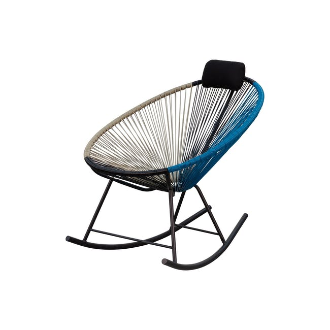 Acapulco Rocking Chair - Taupe, Black, Blue Mix - 1