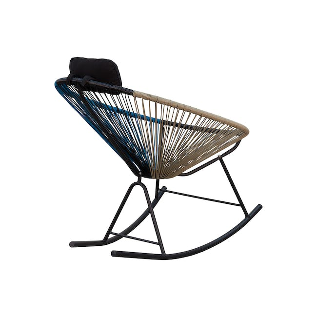 Acapulco Rocking Chair - Taupe, Black, Blue Mix - 3