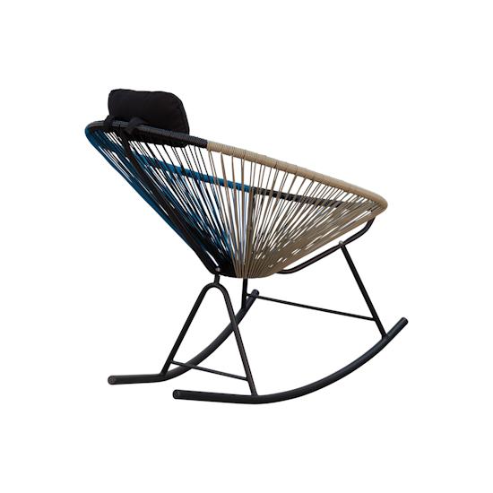 Acapulco - Acapulco Rocking Chair - Taupe, Black, Blue Mix