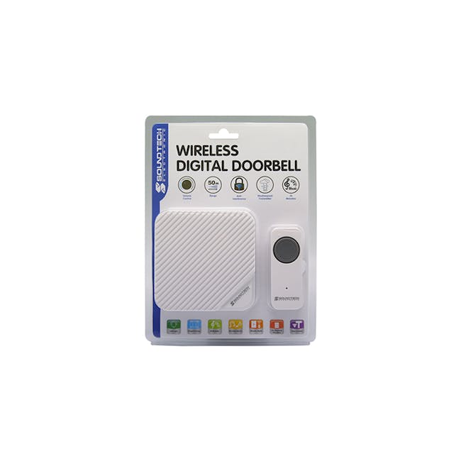SOUNDTEOH Battery Operated Wireless DoorBell DD-188 - 1