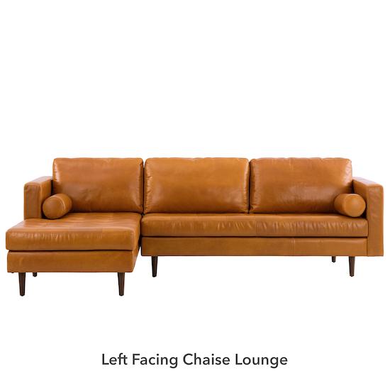 AK Avantgarde - Nolan L-Shaped Sofa - Butterscotch (Premium Waxed Leather)
