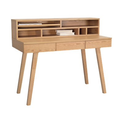 Ezra 3 Drawer Working Desk with Storage - Natural - Image 2