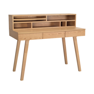 Ezra 3 Drawer Working Desk with Storage - Natural - Image 1