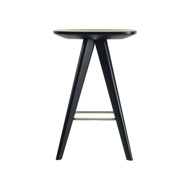 (As-is) Freya Counter Stool - Dust Blue Lacquered - 11 - 15