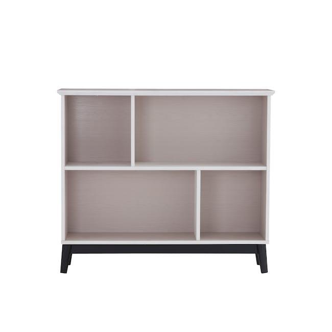 Howard Low Bookshelf - Light Grey, White - 0