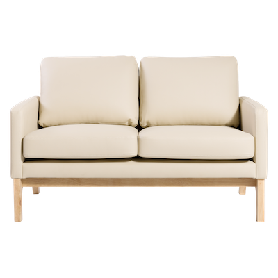Courtney Loveseat - Natural, Cream - Image 1