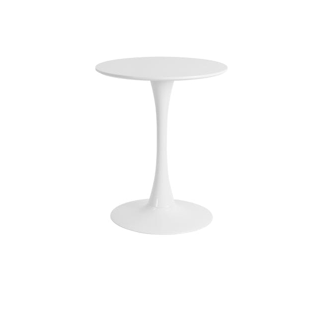 (As-is) Carmen Round Dining Table 0.6m - White - 4 - 0