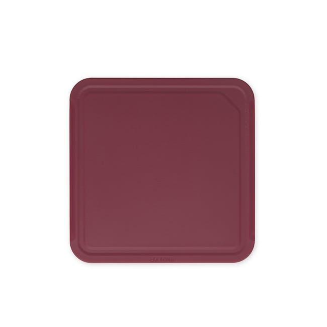 Tasty+ Medium Cutting Board - Aubergine Red - 0