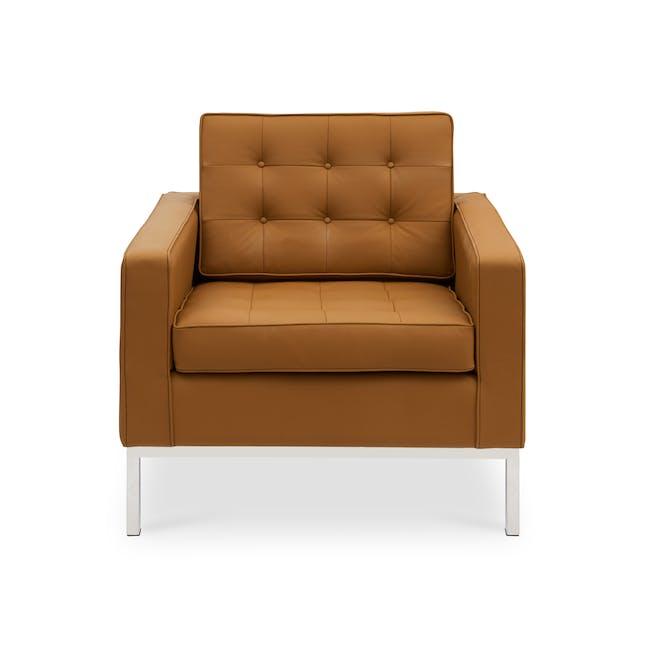 Florence Knoll Armchair Replica - Tan (Genuine Cowhide) - 0