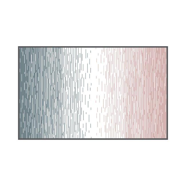 Dawn Medium Reversible Mat 2.4m x 1.5m - Grey & Pink - 0