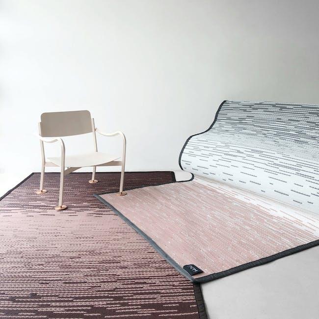 Dawn Medium Reversible Mat 2.4m x 1.5m - Grey & Pink - 4