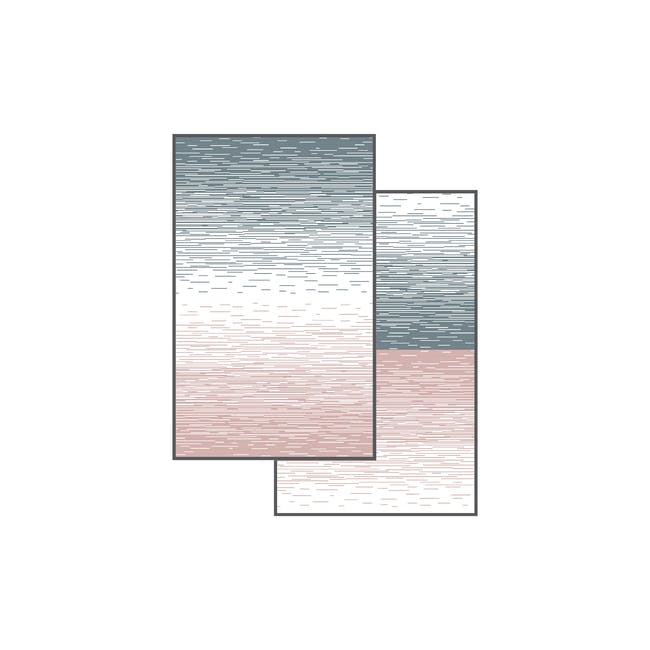 Dawn Medium Reversible Mat 2.4m x 1.5m - Grey & Pink - 5