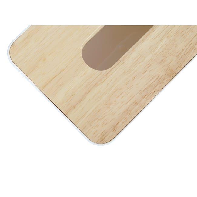 Wooden Tissue Box - White - 4