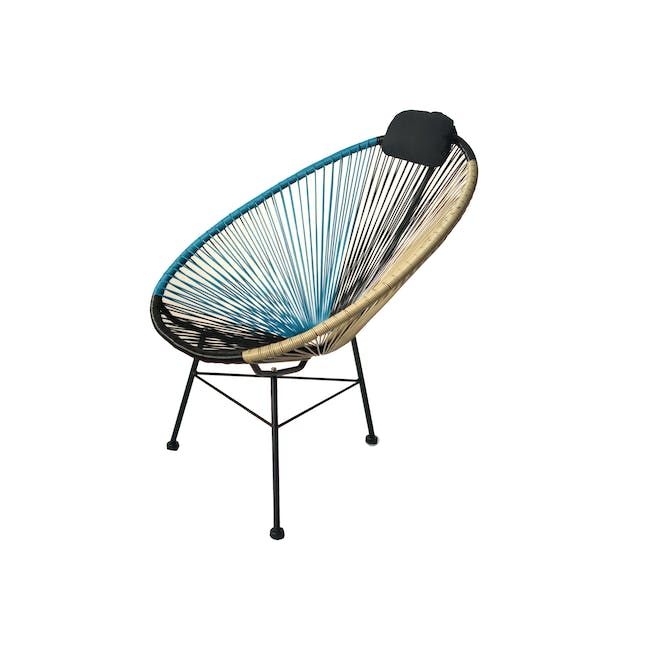 Acapulco Lounge Chair - Taupe, Black, Blue - 5