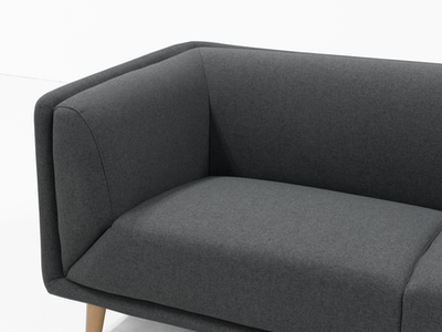 Audrey 3 Seater Sofa - Carbon - Image 2