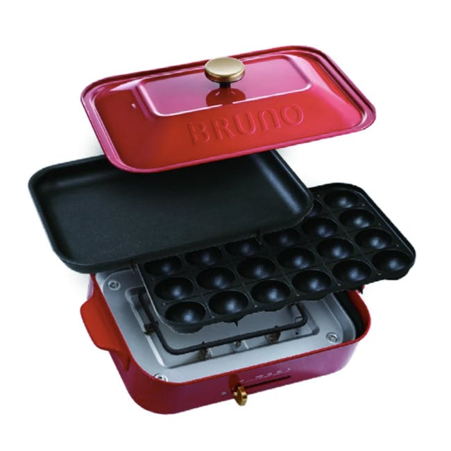 BRUNO Compact Hotplate - Red - 2