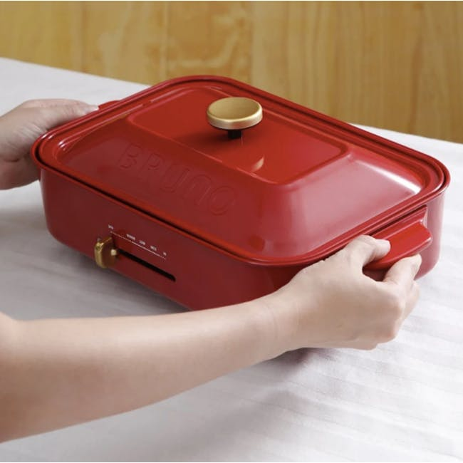 BRUNO Compact Hotplate - Red - 5