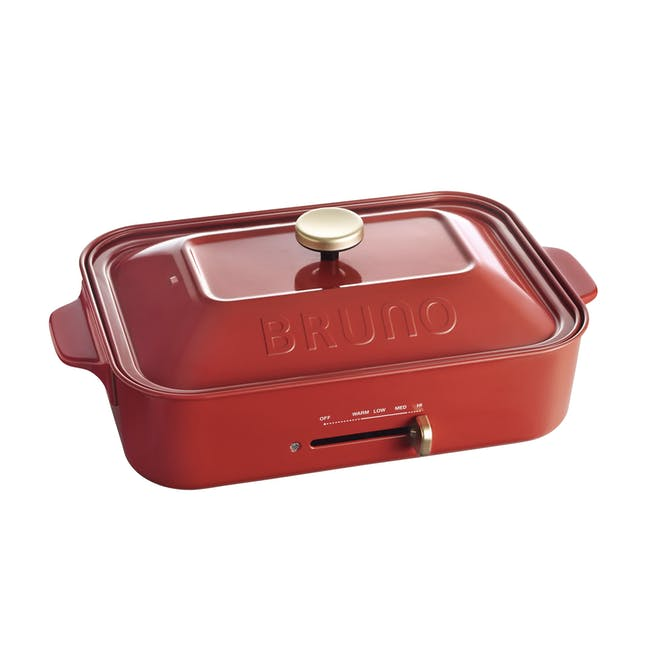 BRUNO Compact Hotplate - Red - 0