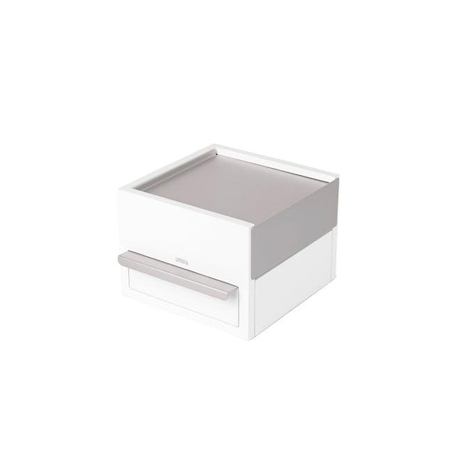 Mini Stowit Storage Box - White, Nickel - 0