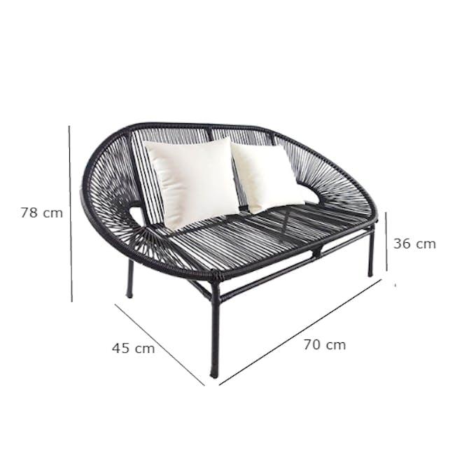 Shelton Sofa Set with White Pillow - 11