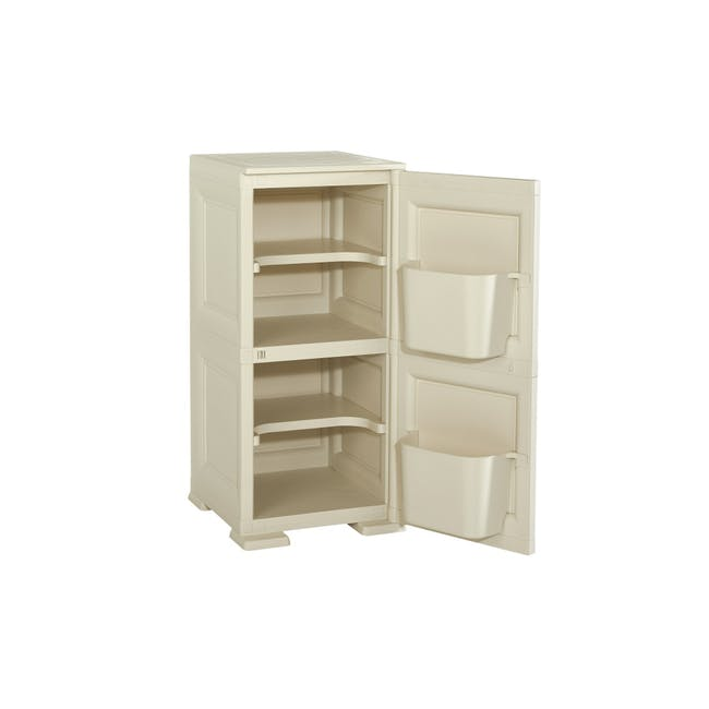 Omnimodus 4 Shelves Shoe Cabinet - Wood Brown - 1