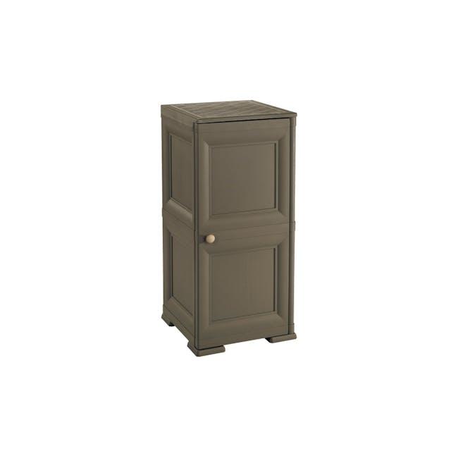 Omnimodus 4 Shelves Shoe Cabinet - Wood Brown - 0