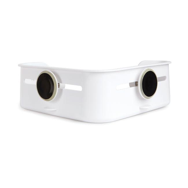 Flex Gel-Lock Corner Bin - White - 3