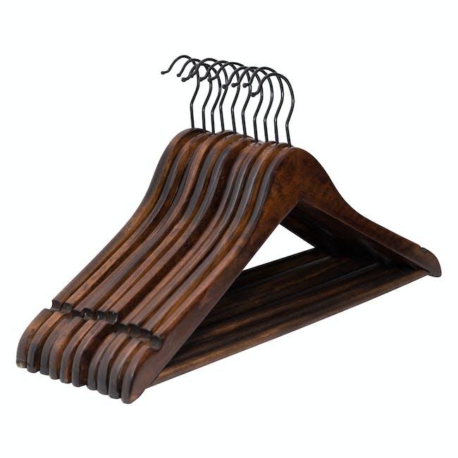 Wooden Hangers (Set of 10) - Walnut - 2
