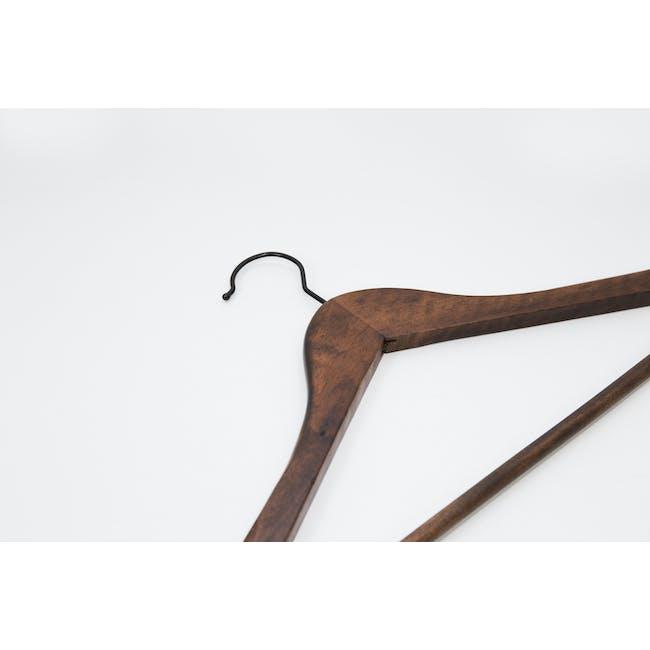 Wooden Hangers (Set of 10) - Walnut - 4