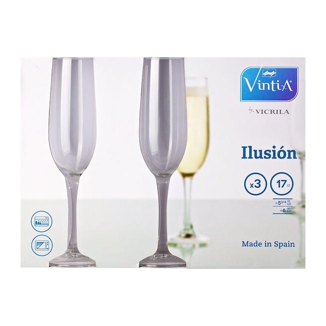 Ilusion Champagne Flute 17cl (Set of 3) - 2