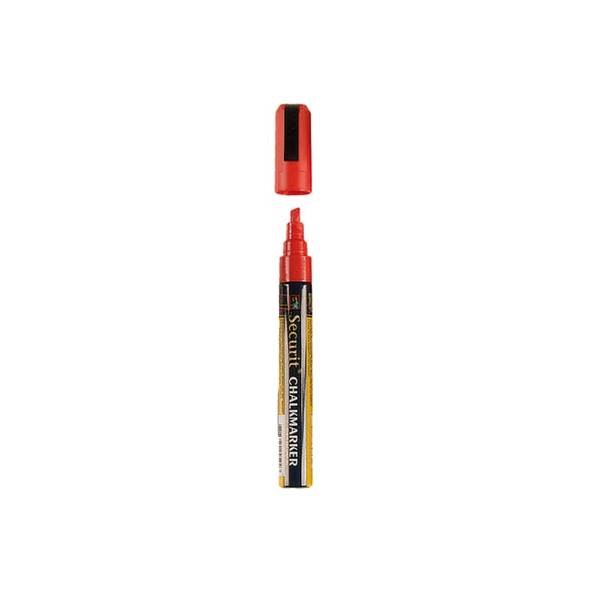 Securit Liquid Chalk Marker With 2-6Mm Tip - Red - 0