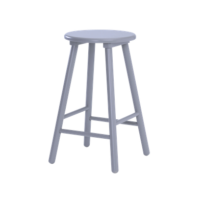 Orianna Counter Stool - Light Grey - Image 2